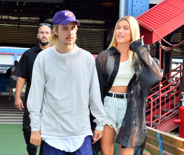 Singer Justin Bieber and model Hailey Baldwin hold hands as they head to the John Elliot fashion show at Chelsea Piers in New York, NY. Pictured: Justin Bieber,Hailey Baldwin Picture by: SplashNews.com
