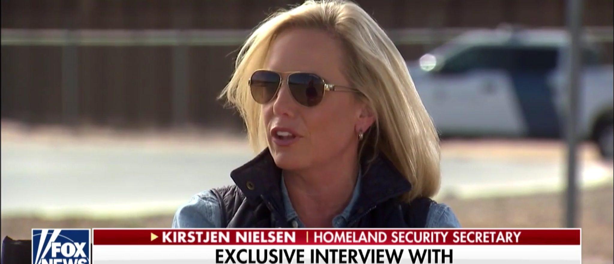 Department of Homeland Security Secretary Kirstjen Nielsen speaks with Fox News on Thursday, Oct. 26, 2018. (Photo: Screenshot/Fox News)