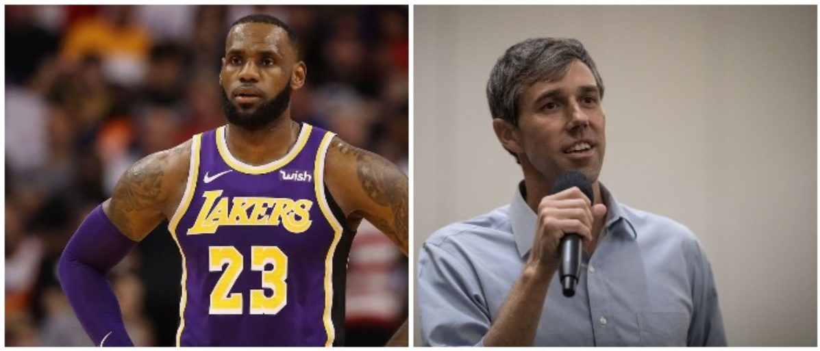 8dbcc00846b6 LeBron James Wears  Beto For Senate  Hat To Lakers Game In Texas ...