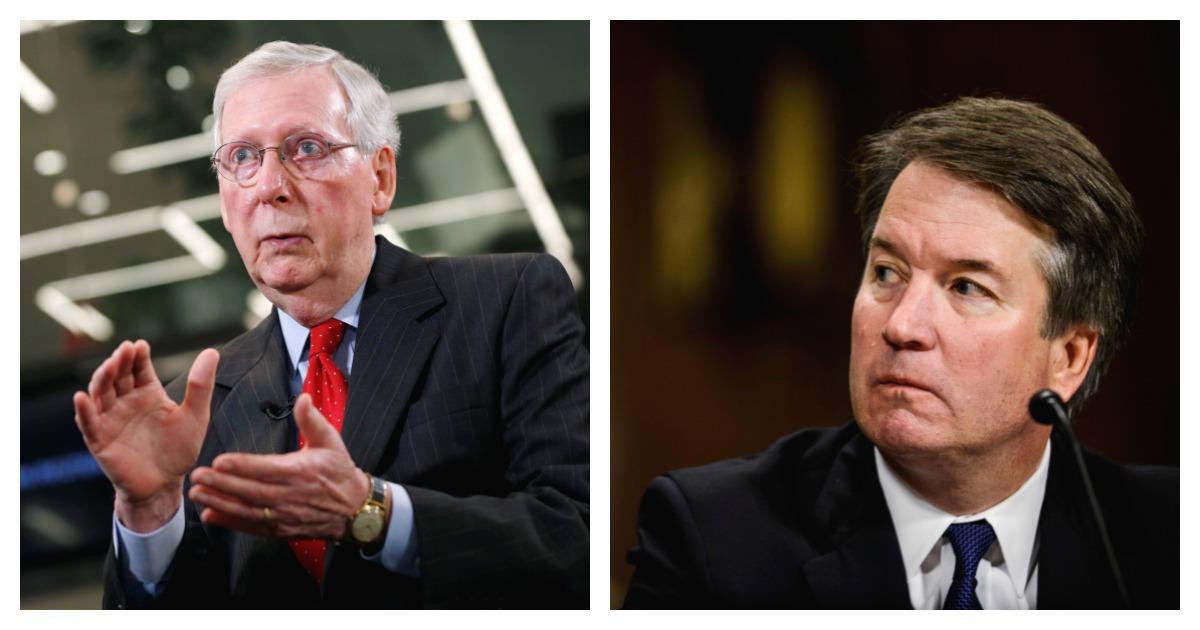 Left, REUTERS/Joshua Roberts/ Right, Pool via REUTERS/ Gabriella Demczuk