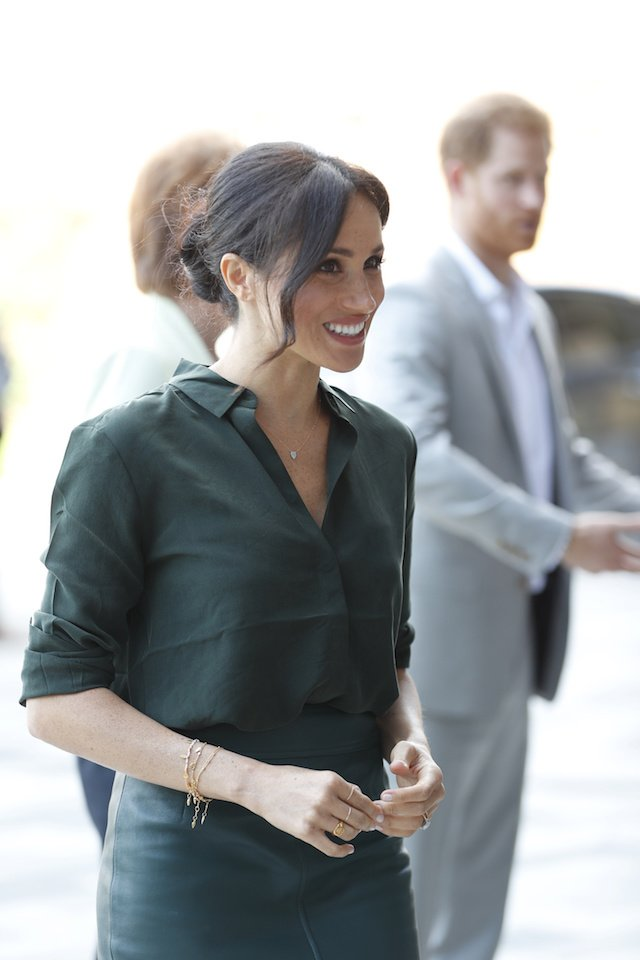 Britain's Prince Harry and Meghan, Duchess of Sussex arrive for a visit to the University of Chichester Tech Park, in Chichester, Britain October 3, 2018. Heathcliff O'Malley/pool via Reuters