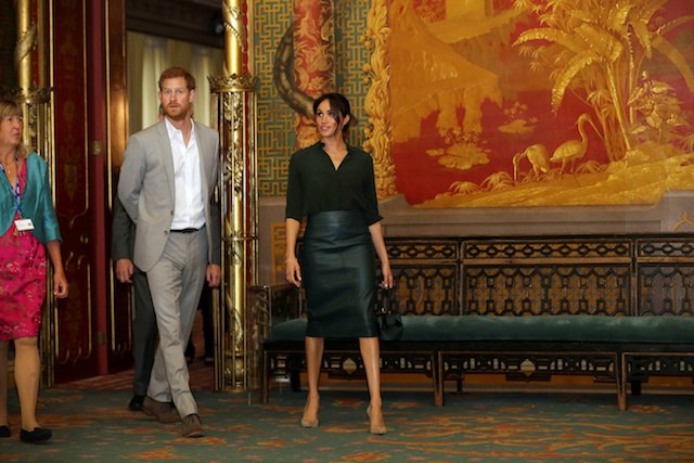 Britain's Prince Harry and Meghan, Duchess of Sussex visit the Royal Pavilion in Brighton, Britain October 3, 2018. Tim Ireland/pool via Reuters