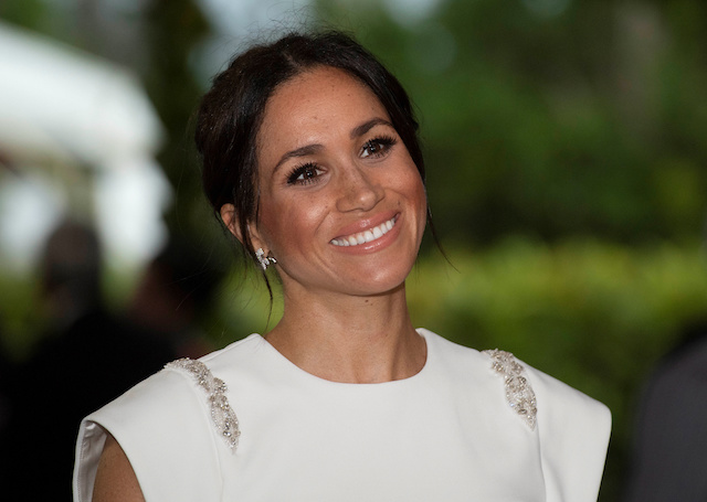 Meghan, Duchess of Sussex attends a state dinner in Nuku'alofa, Tonga, October 25, 2018. Paul Edwards/Pool via REUTERS