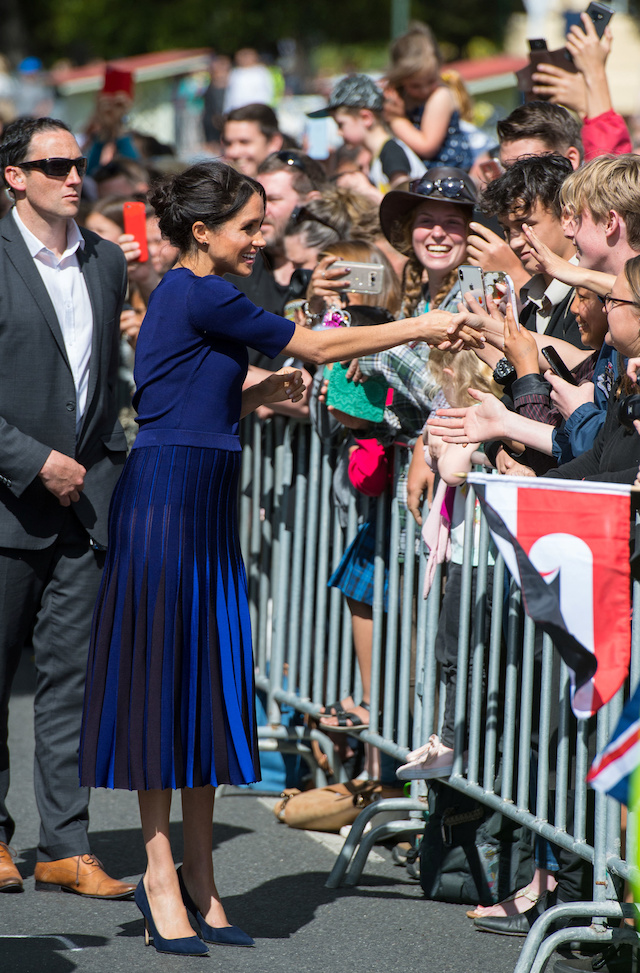 Meghan, Duchess of Sussex, during a walkabout in Rotorua on day four of the royal couple's tour of New Zealand October 31, 2018. Dominic Lipinski/Pool via REUTERS