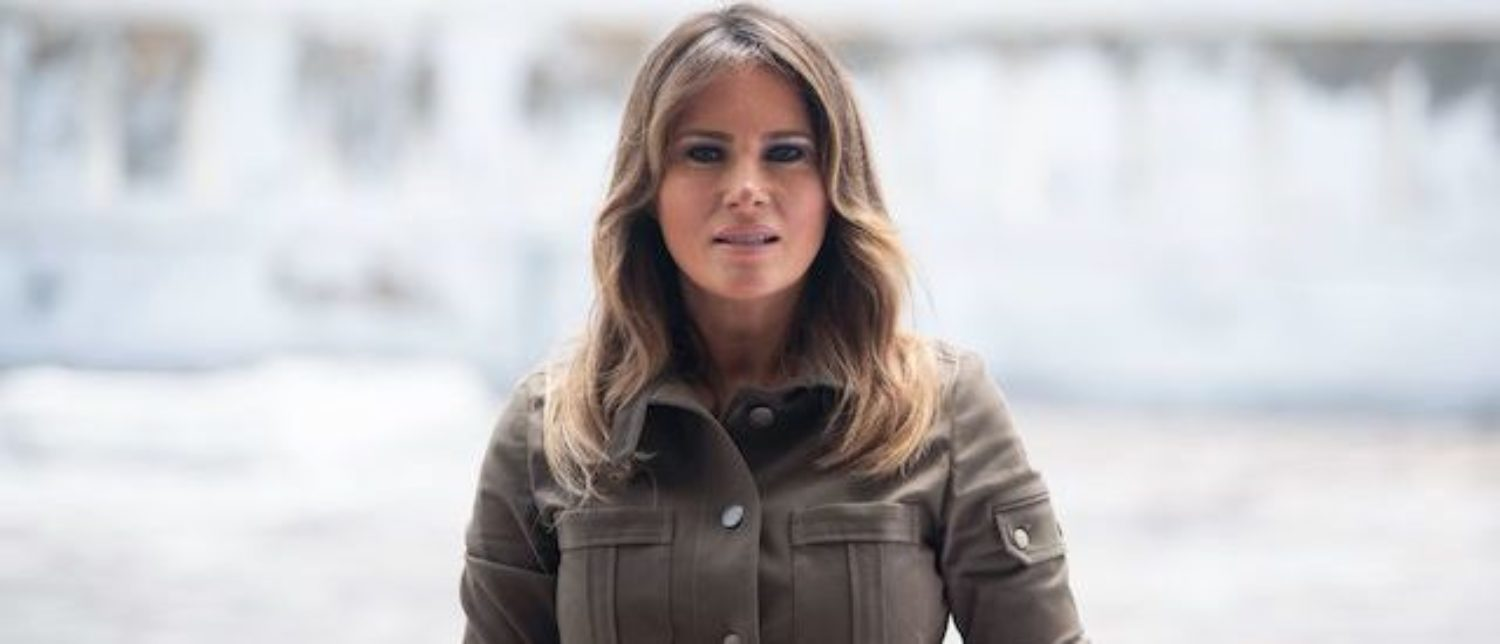 US First Lady Melania Trump tours the Cape Coast Castle, a former slave trading fort, in Cape Coast, Ghana, on October 3, 2018. (Photo: SAUL LOEB/AFP/Getty Images)