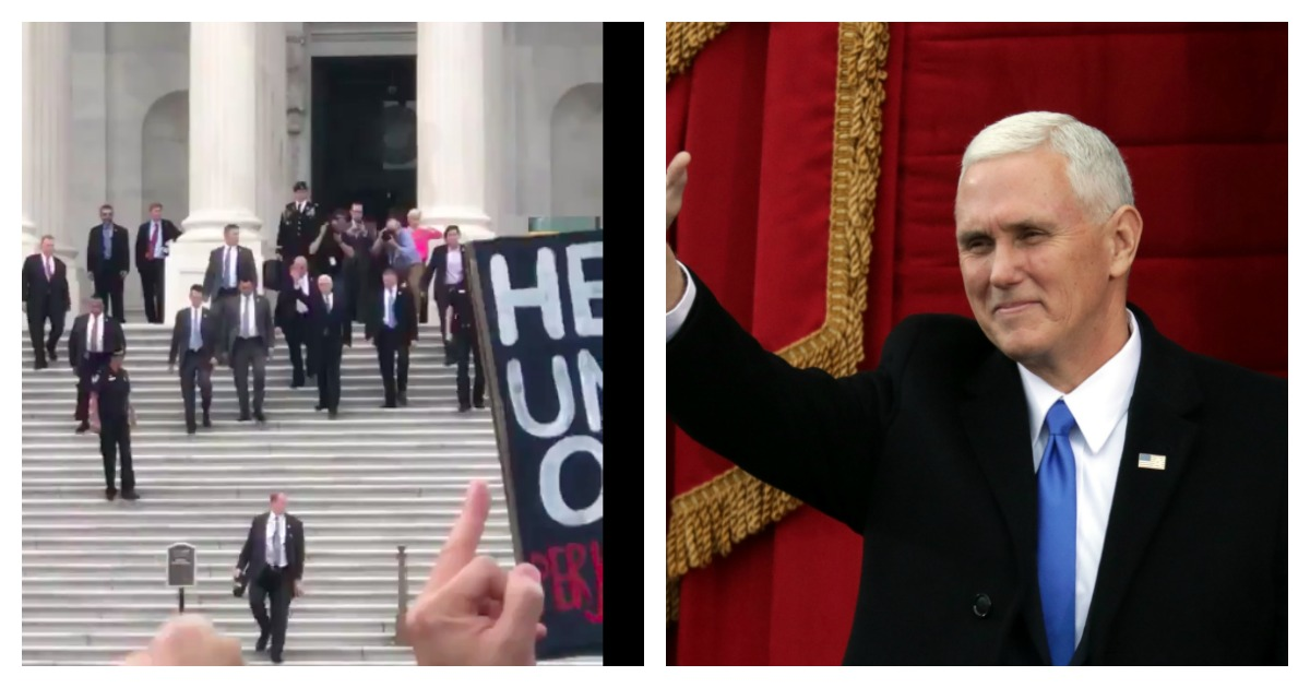 WASHINGTON, DC - JANUARY 20: U.S. Vice President-elect Mike Pence waves on the West Front of the U.S. Capitol on January 20, 2017 in Washington, DC. In today's inauguration ceremony Donald J. Trump becomes the 45th president of the United States. (Photo by Chip Somodevilla/Getty Images)