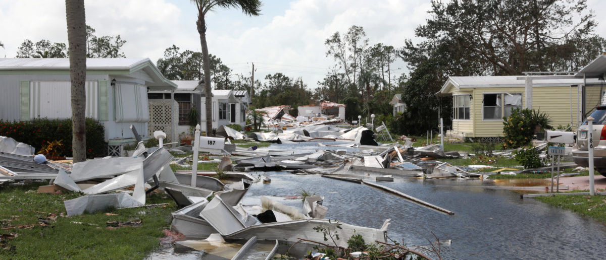 Property damage is seen at a mobile home park after passing of Hurricane Irma in Naples, Florida, U.S. September 11, 2017 REUTERS/Stephen Yang