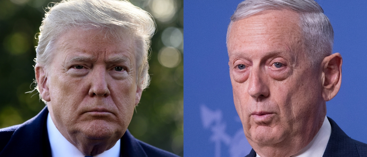 """President Donald Trump expressed his approval of Defense Secretary James Mattis during an interview with """"60 Minutes"""" that aired Sunday. Olivier Douliery - Pool/Getty Images and Jim Watson - Pool/Getty Images"""