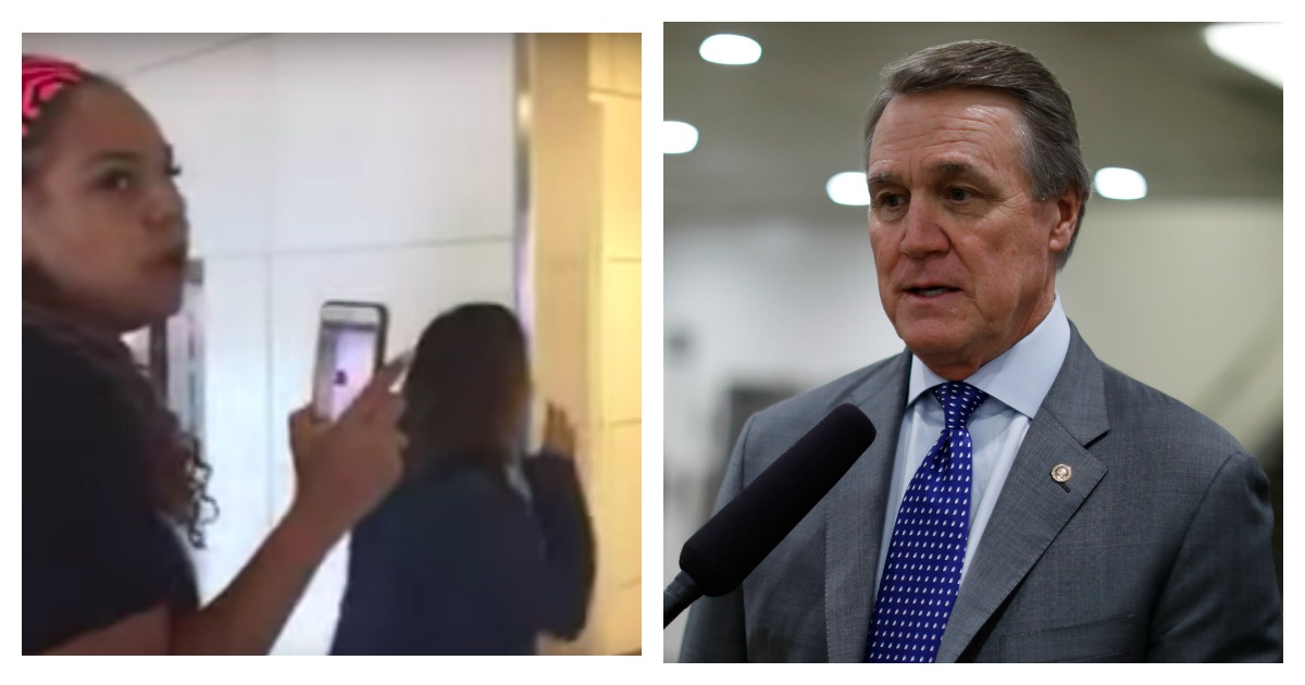 WASHINGTON, D.C. -- FEBRUARY 15: Sen. David Perdue (R-GA) speaks with reporters on Capitol Hill on February 15, 2018 in Washington, DC. The Senate failed to pass an immigration fix, raising questions about the fate of DACA recipients. (Aaron P. Bernstein/Getty Images)