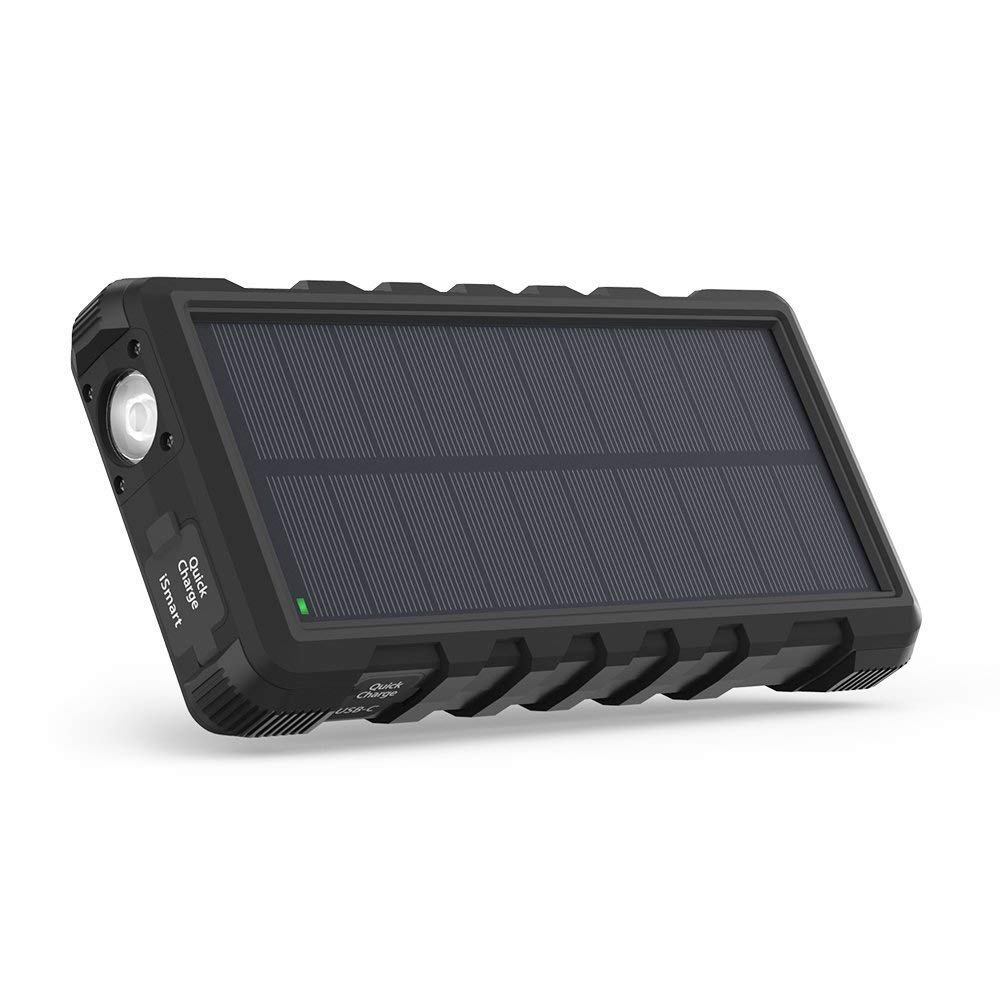 Normally $58, this solar portable charger is 26 percent off today (Photo via Amazon)