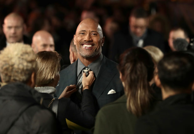 Dwayne Johnson took the leading position on the overall favorability ranking