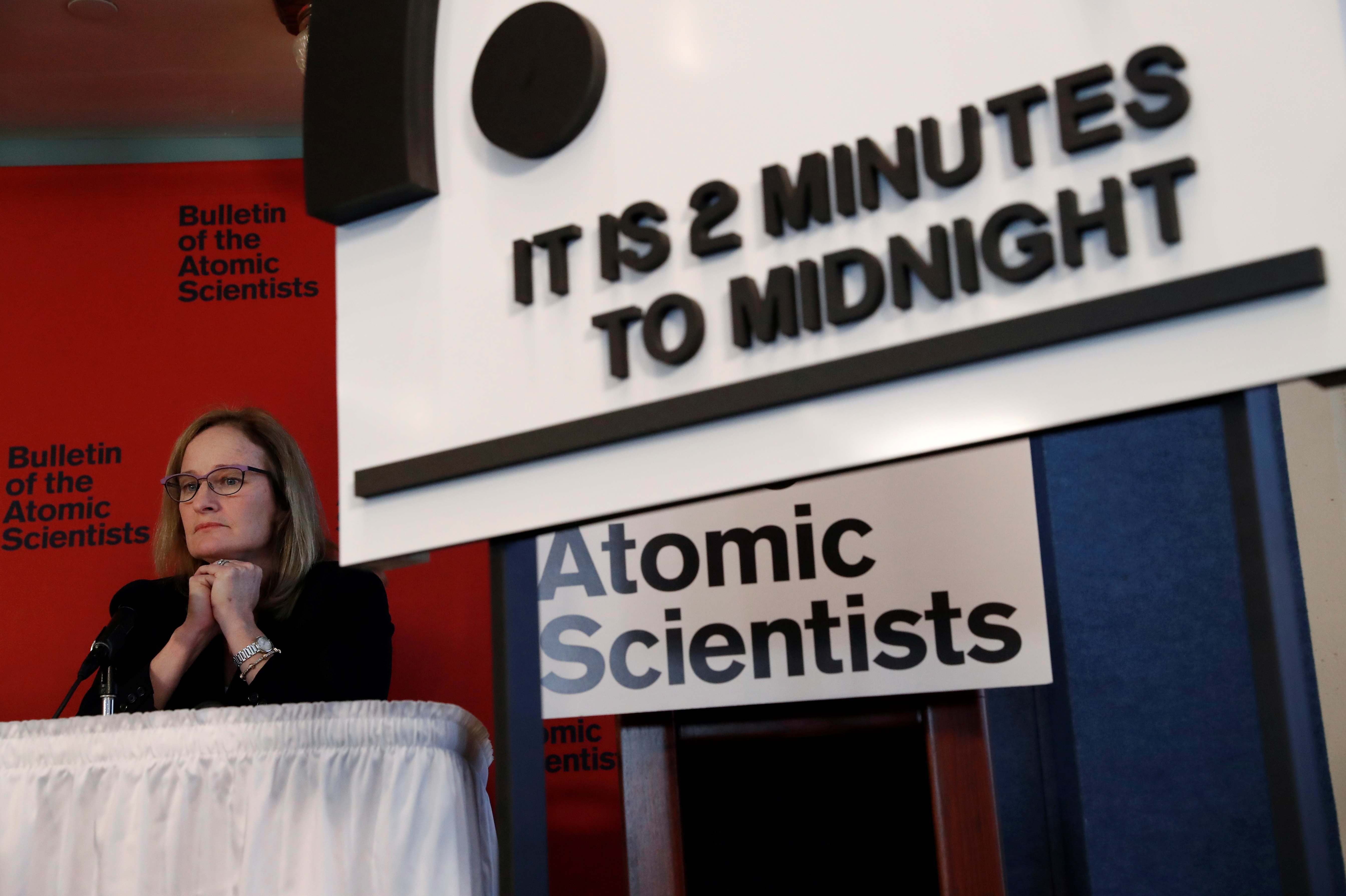 The Bulletin of the Atomic Scientists move the 'Doomsday Clock' hands to two minutes until midnight