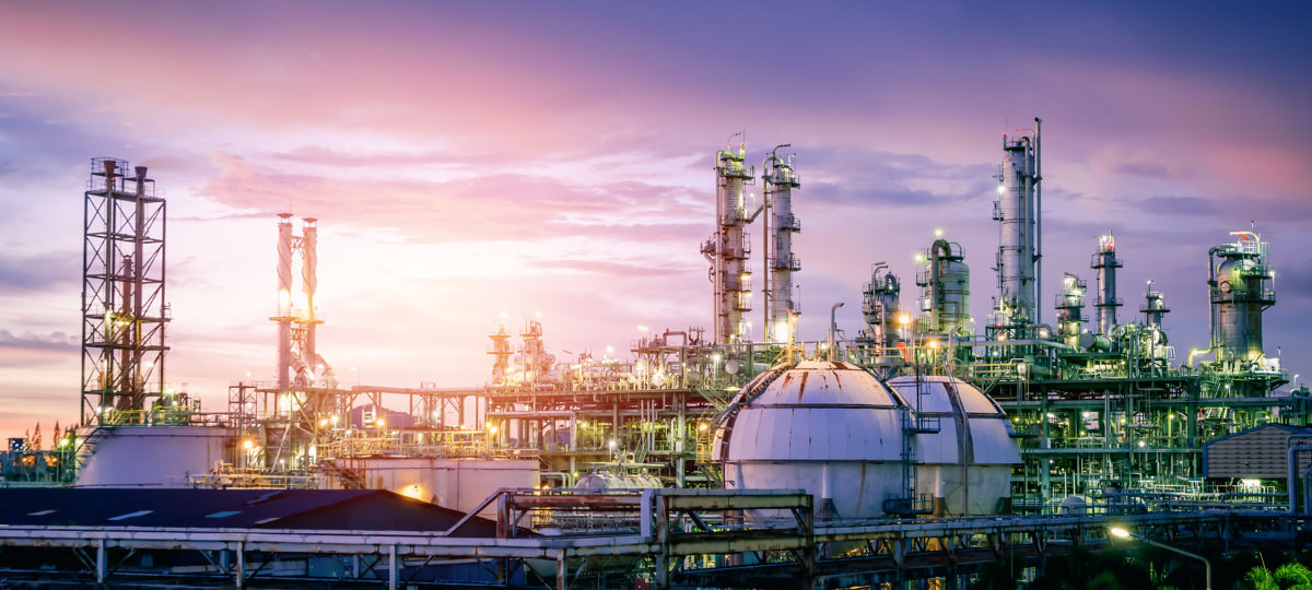 Image of a refinery. Shutterstock