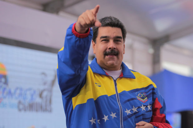 Venezuela's President Nicolas Maduro attends an event with supporters in Caracas, Venezuela, October 20, 2018. Miraflores Palace/Handout via REUTERS