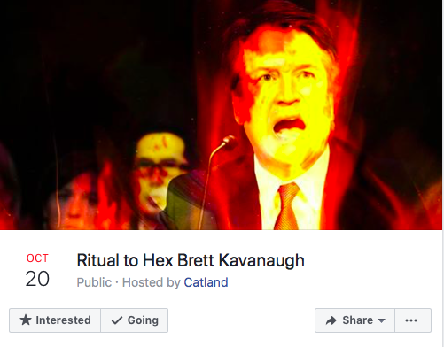 Ritual to Hex Kavanaugh (Screenshot from Facebook)