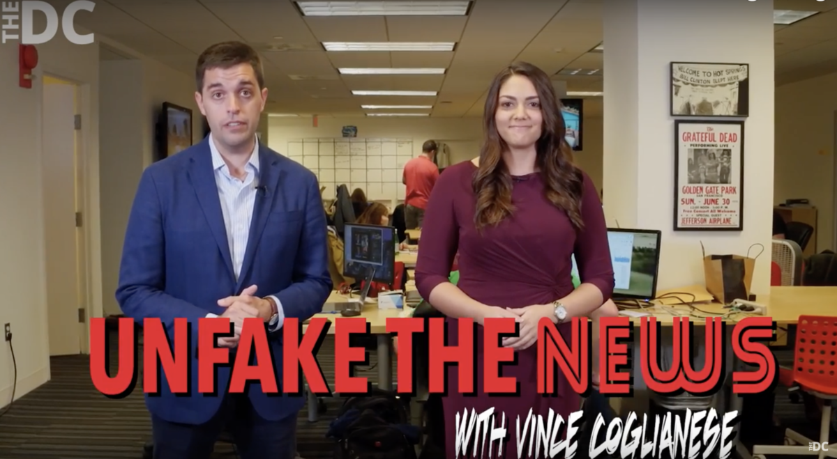 Unfake the News screenshot (TheDC 10/16/2018)