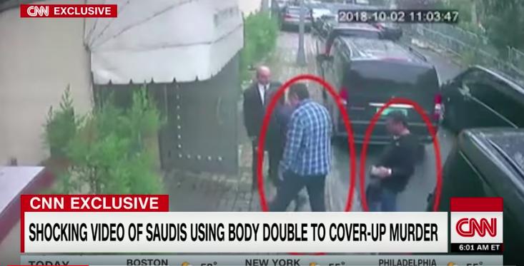 Screen Shot CNN YouTube: Saudi operative dressed as Khashoggi, Turkish source says 2018-10-22 at 2.14.33 PM