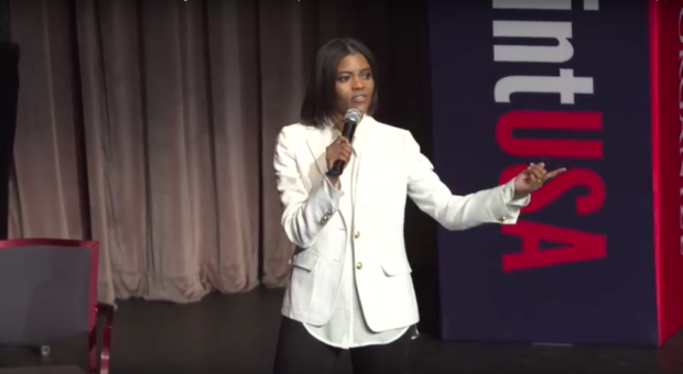 Candace Owens speaks at Turning Point USA conference for High School Leadership Summit/ YouTube Screenshot, TPUSA