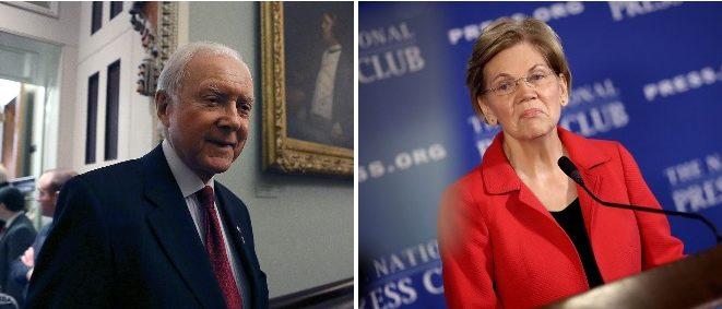 Senator Orrin Hatch and Senator Elizabeth Warren (LEFT: Mark Wilson/Getty Images RIGHT: Win McNamee/Getty Images)