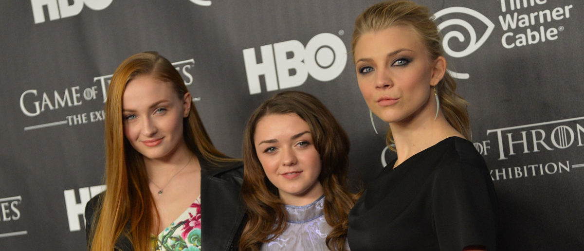 """NEW YORK, NY - MARCH 27: (L-R) Actors Sophie Turner, Maisie Williams, and Natalie Dormer attend """"Game Of Thrones"""" The Exhibition New York Opening at 3 West 57th Avenue on March 27, 2013 in New York City. (Photo by Mike Coppola/Getty Images)"""