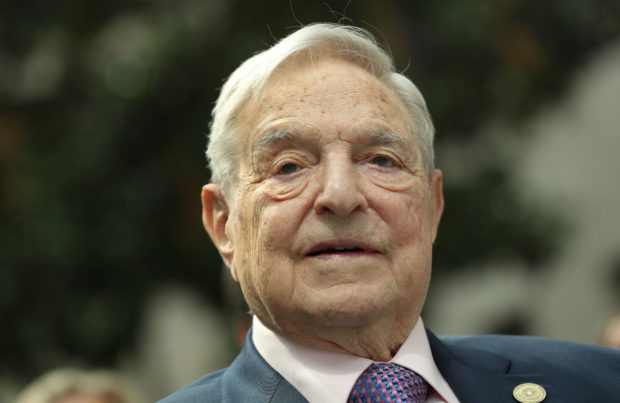 BERLIN, GERMANY - JUNE 08: Financier and philanthropist George Soros attends the official opening of the European Roma Institute for Arts and Culture (ERIAC) at the German Foreign Ministry on June 8, 2017 in Berlin, Germany. (Sean Gallup/Getty Images)