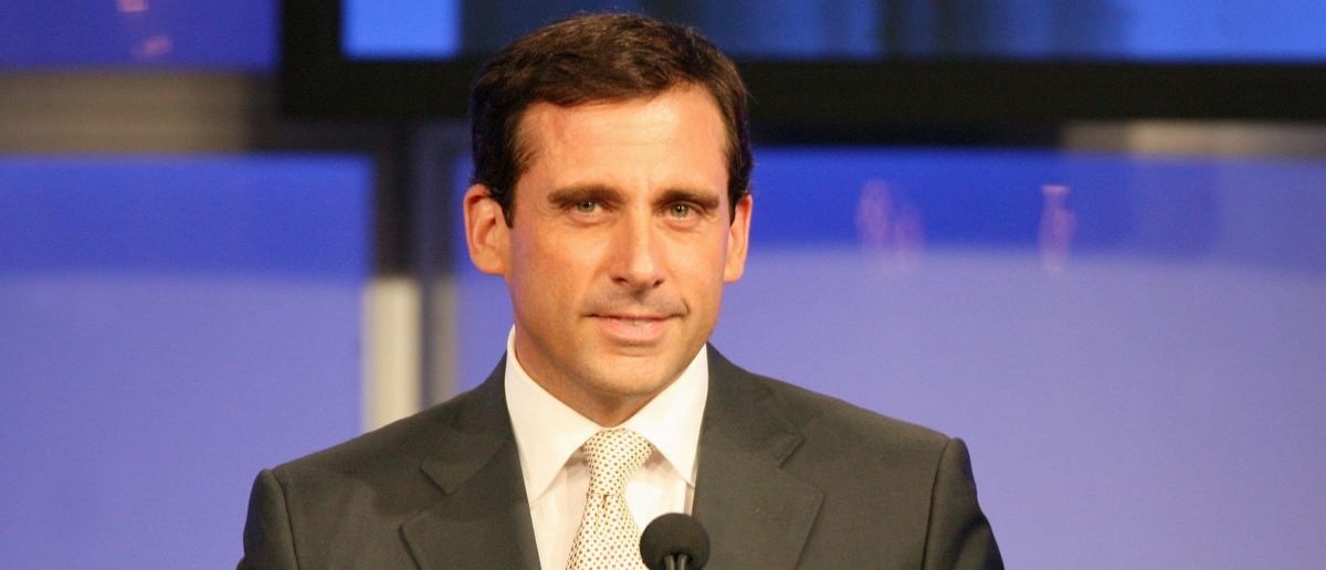 """PASADENA, CA - JULY 23: Actor Steve Carell accepts the """"Individual Achievement In Comedy"""" award for his work on """"The Office"""" onstage during the 2006 Summer TCA Awards held at The Ritz-Carlton on July 23, 2006 in Pasadena, California. (Photo by Frederick M. Brown/Getty Images)"""