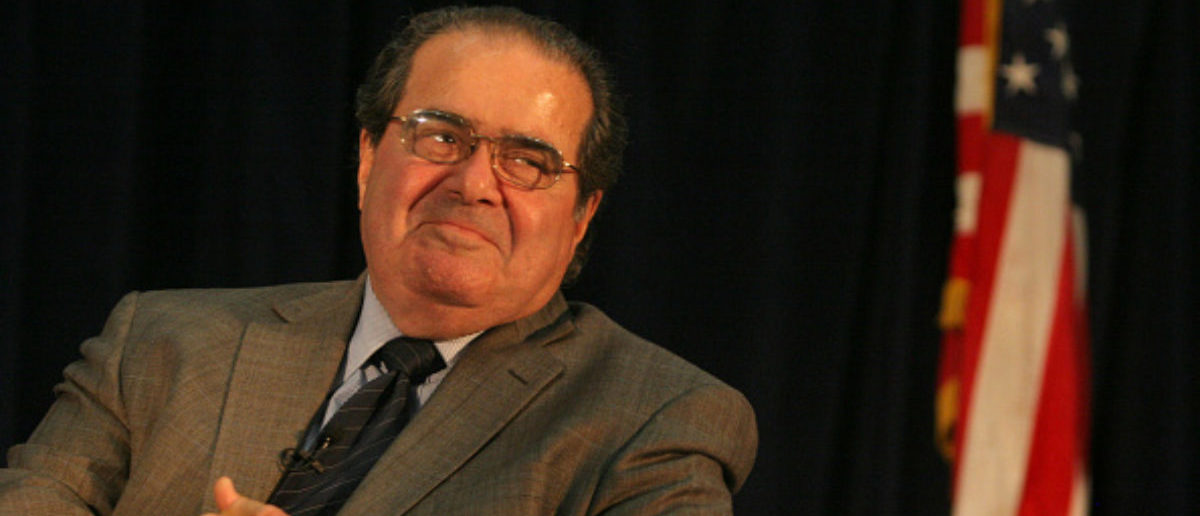 Supreme Court Justice Antonin Scalia in a September 2010 file image at the University of California, Hastings. Scalia died on Saturday, Feb. 13, 2016. (Ray Chavez/Bay Area News Group/TNS via Getty Images)