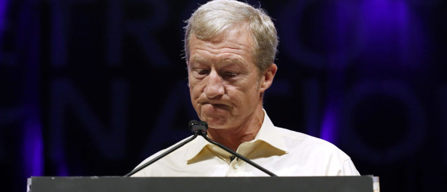 Tom Steyer speaks at the Netroots Nation annual conference for political progressives in New Orleans, Louisiana, U.S. Aug. 2, 2018. REUTERS/Jonathan Bachman