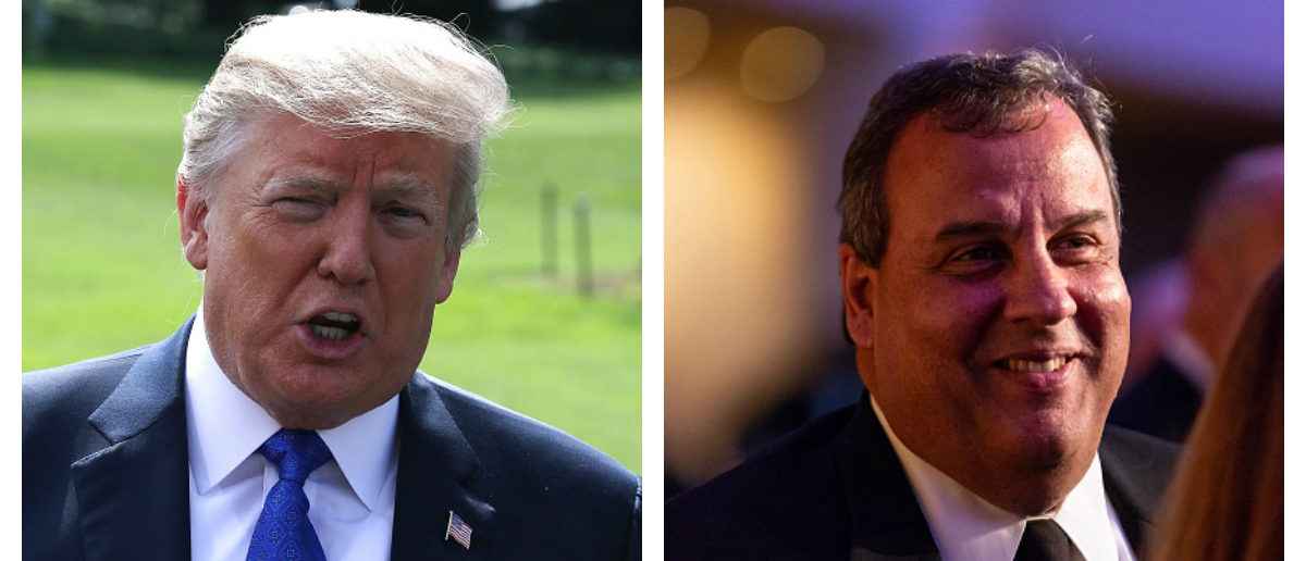Trump - Christie Side By Side Getty Images Mark Wilson and NurPhoto