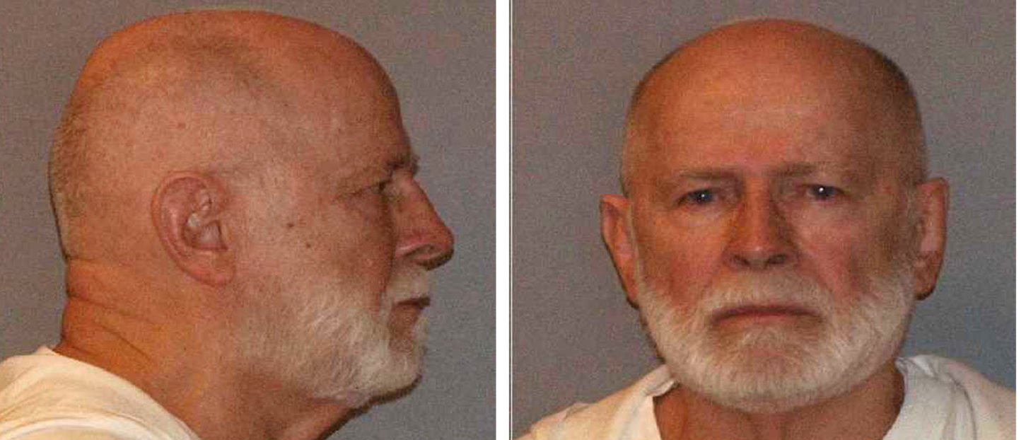 "Former mob boss and fugitive James ""Whitey"" Bulger, who was arrested in Santa Monica, California on June 22, 2011 along with his longtime girlfriend Catherine Greig, is seen in a combination of booking mug photos released to Reuters on August 1, 2011. Bulger, currently on trial in Boston for murder and racketeering, has angrily cursed in open court, his own lawyer has described him as a mobster and one potential witness this week turned up dead on the side of a road. As prosecutors prepare to wrap up their case early next week and hand it over to the defense, the biggest question on observers' minds is whether the 83-year-old defendant will break with convention once more and take to the witness stand. REUTERS/U.S. Marshals Service/U.S. Department of Justice/Handout"
