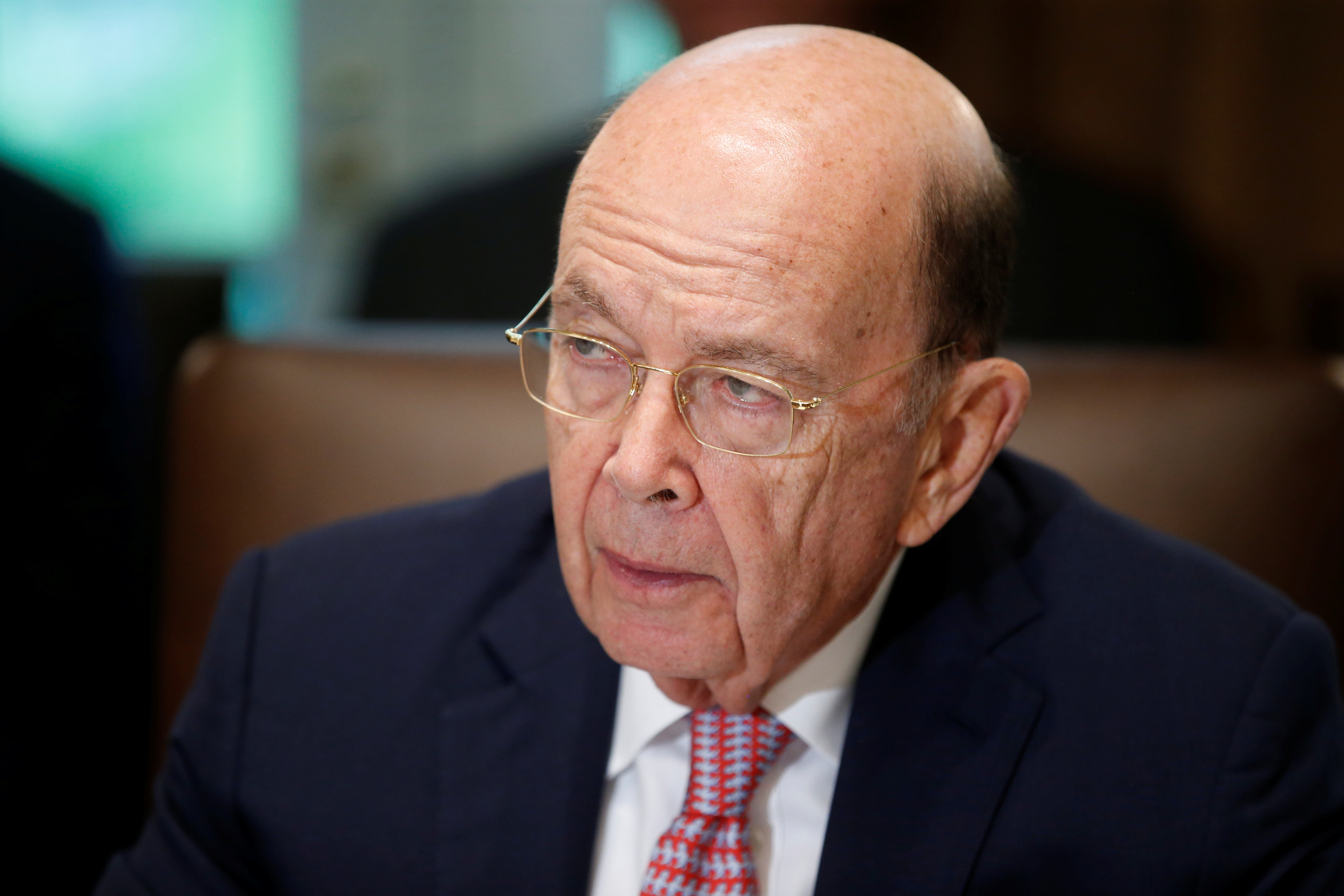 U.S. Commerce Secretary Wilbur Ross attends a cabinet meeting at the White House in Washington, U.S., July 18, 2018. REUTERS/Leah Millis