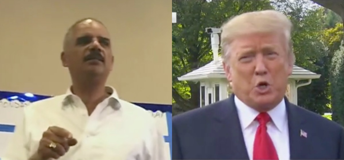 Trump On Holder Calling For Democrats To 'Kick' Republicans: 'He Better Be Careful'