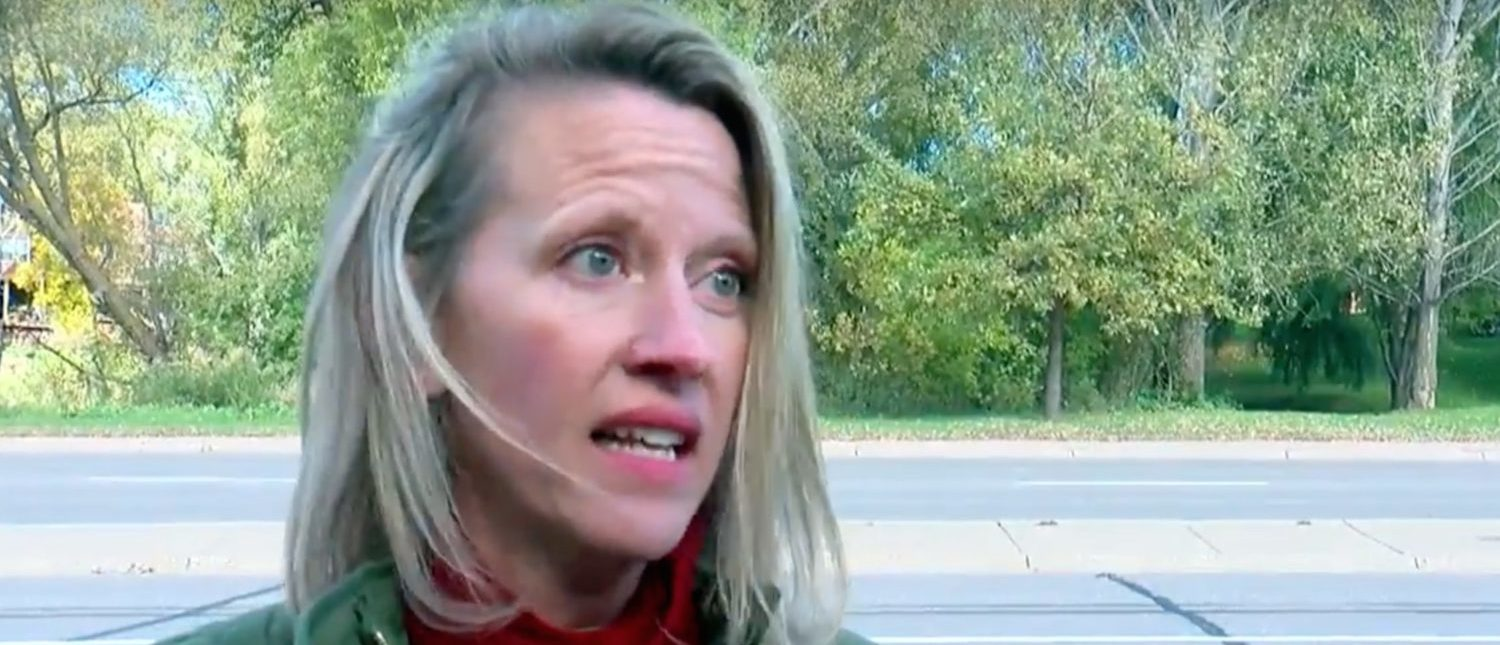 MN GOP Rep Sarah Anderson says she was attacked while campaigning.[Youtube/Public/Screenshot - User: WCCO - CBS Minnesota]