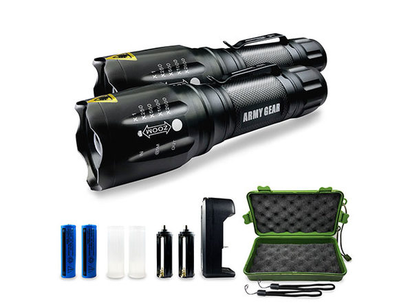 Normally $120, this 2-pack of tactical flashlights is 75 percent off