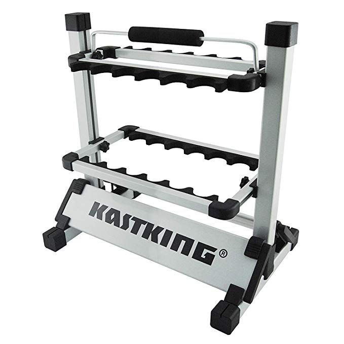 For $59.99 this 5 star casting rack is a great way to store your fishing gear (Photo via Amazon)