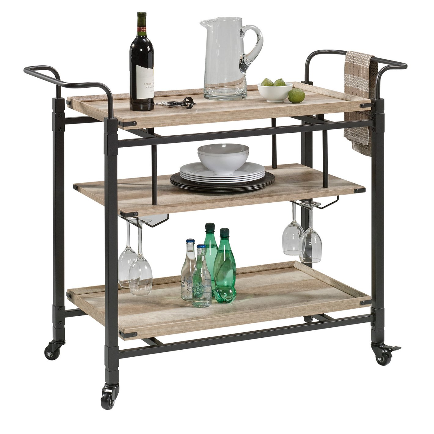 Normally $200, this bar cart is 36 percent off (Photo via Hayneedle)