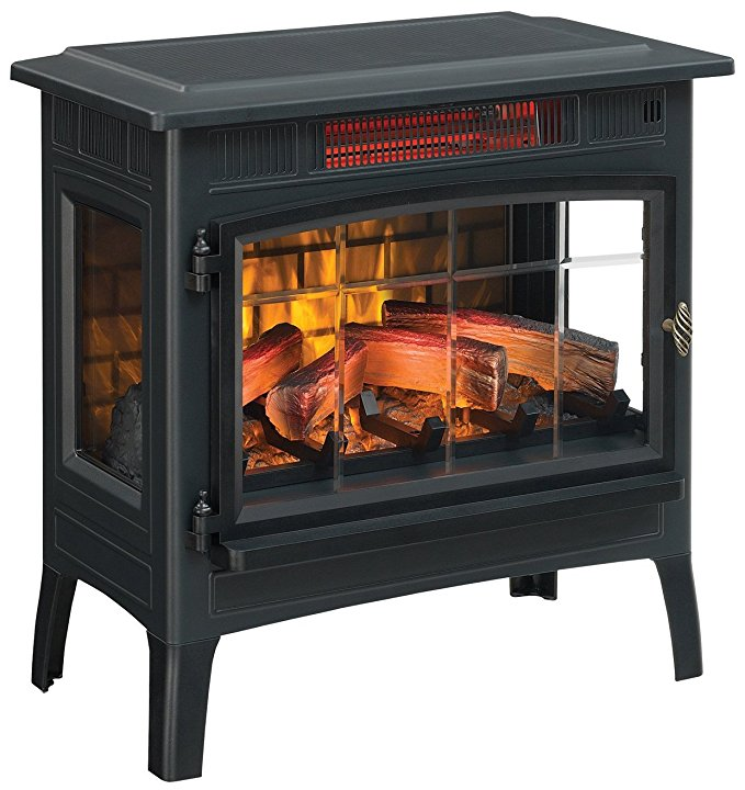 Normally $300, this infrared fireplace stove is 40 percent off (Photo via Amazon)
