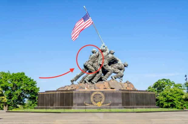 WASHINGTON DC, USA - OCTOBER 20, 2014: Iwo Jima statue in Washington DC. The statue honors the Marines who have died defending the United States since 1775 (Shutterstock)
