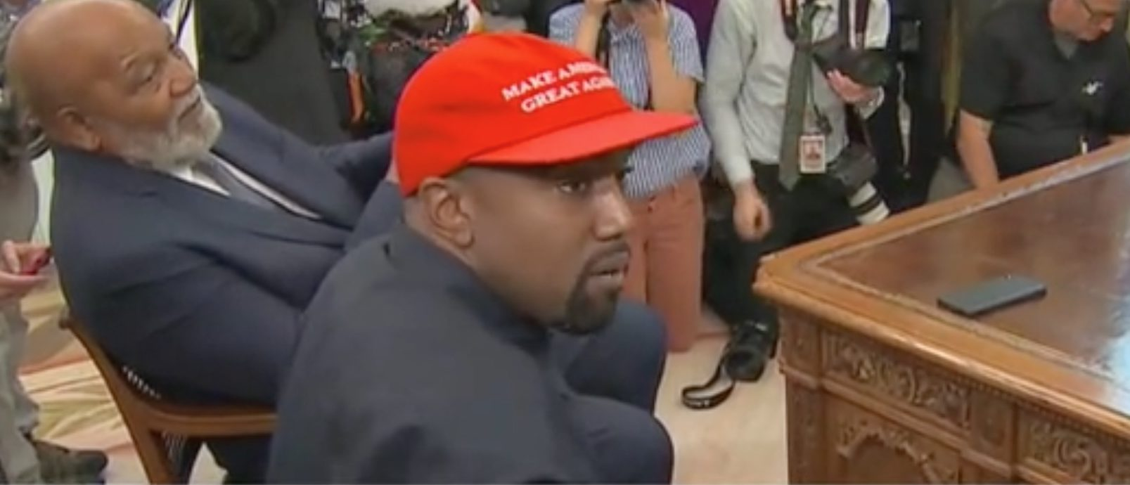 Kanye West Fiercely Defends Second Amendment In Oval Office Meeting