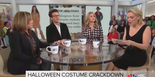 "Panel discusses Halloween costumes on ""Megyn Kelly Today,"" 10/23/18/Screenshot"