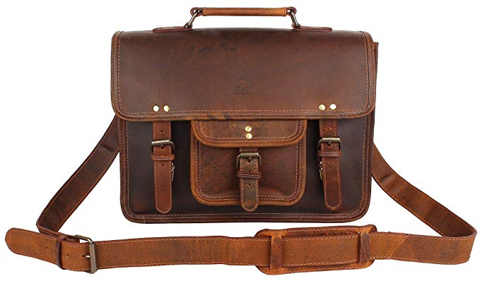 Normally $90, this leather messenger bag is 25 percent off