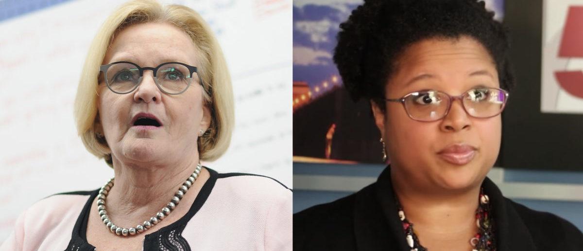 Left: Democratic Missouri Sen. Claire McCaskill Right: Missouri state Sen. Maria Chappelle-Nadal (Left Photo: Michael Thomas/Getty Images Right photo: Screenshot/YouTube)