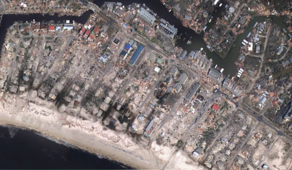 Mexico Beach, Florida, after Hurricane Michael. (Photo: National Oceanic and Atmospheric Administration)