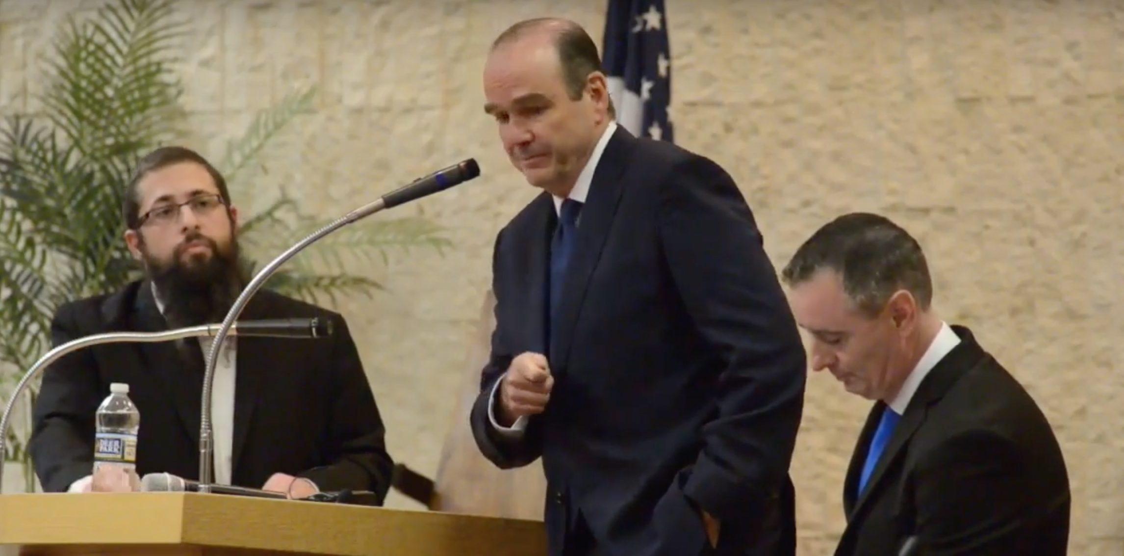 Democrat Scott Wallace faces incumbent Republican Brian Fitzpatrick in first debate. William Thomas Cain/The Intelligencer/YouTube