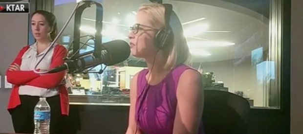 Kyrsten Sinema interviews with KTAR News./KTAR 92.3fm/Facebook