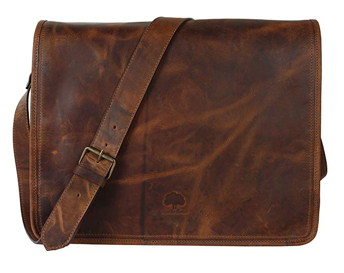 Normally $150, this leather laptop bag is 25 percent off today (Photo via Amazon)