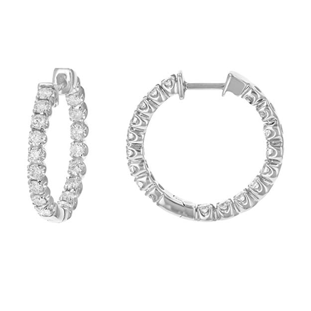 Normally $1300, these hoop earrings are 31 percent off today (Photo via Amazon)