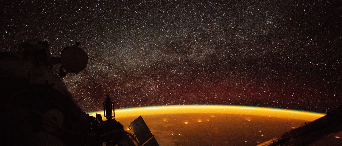 Earth is enveloped in airglow. (Photo: NASA)