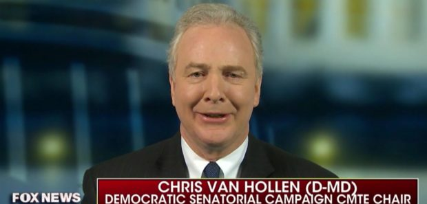 Sen Chris Van Hollen (D-Md.) appears on Fox News Sunday, Nov. 4, 2018. Fox News screenshot.