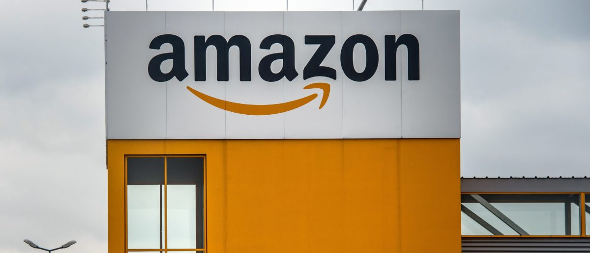 A photo taken on April 11, 2015 in Lauwin-Planque, northern France, shows a site of the Amazon electronic commerce company. AFP PHOTO PHILIPPE HUGUEN / AFP PHOTO / Philippe HUGUEN